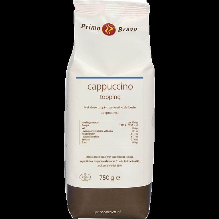 Primo Bravo Cappuccino Topping 750 gram Koffiewereld